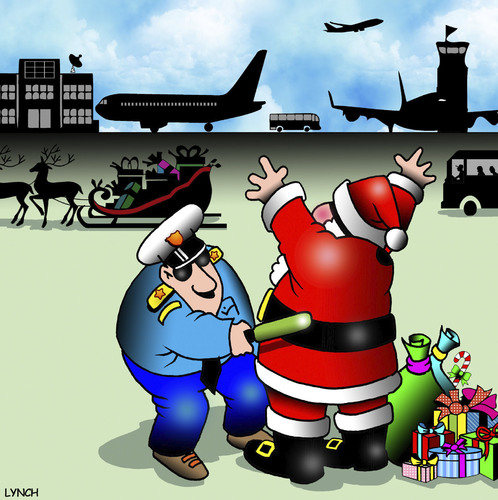 Cartoon: Airport security (medium) by toons tagged santa,claus,airline,security,christmas,body,search,santa,claus,airline,security,christmas,body,search