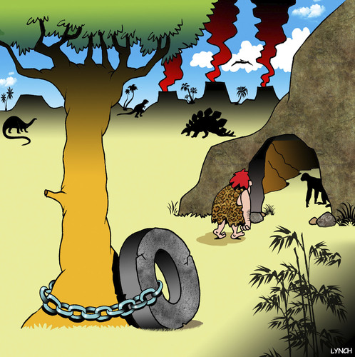 Cartoon: Bike chain (medium) by toons tagged caveman,bike,chain,the,wheel,prehistoric,stolen,vehicle,security,caveman,bike,chain,the,wheel,prehistoric,stolen,vehicle,security