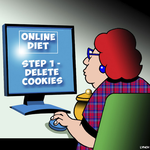 Cartoon: Delete cookies (medium) by toons tagged diets,overweight,fat,delete,cookies,diets,overweight,fat,delete,cookies
