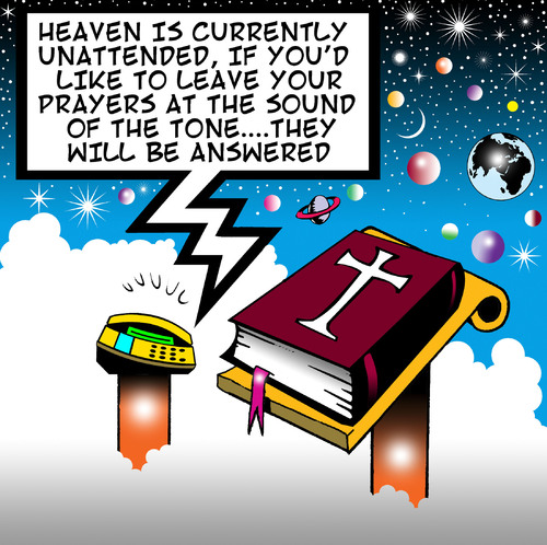 Cartoon: heaven is unattended (medium) by toons tagged heaven,hell,god,answering,machines,fax,email,phones,mobile,messaging,social,networking,computers,angels,bible,st,peter,universe,planets,earth,mars,venus,jupiter,black,hole,praying,prayers