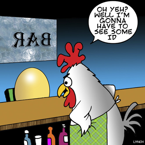 Cartoon: Identification (medium) by toons tagged under,age,drinking,chicken,and,egg,bars,pubs