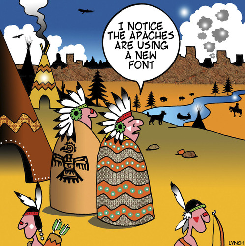 Cartoon: New font (medium) by toons tagged fonts,smoke,signals,apaches,american,indian,wild,west,texting,fonts,smoke,signals,apaches,american,indian,wild,west,texting