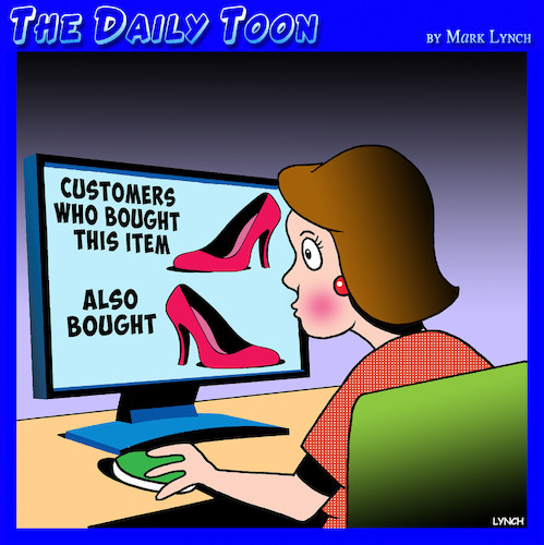Cartoon: Online shopping (medium) by toons tagged customers,who,bought,this,online,shopper,retail,ladies,shoes,customers,who,bought,this,online,shopper,retail,ladies,shoes