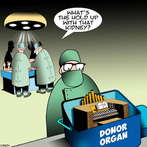 Cartoon: Organ donor (medium) by toons tagged organ,donors,operating,theater,surgery,donor,electric,organ,donors,operating,theater,surgery,donor,electric