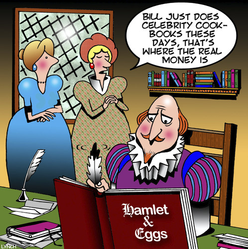 Cartoon: Shakespeare (medium) by toons tagged shakespeare,celebrity,chefs,cook,books,history,recipes,hamlet,shakespeare,celebrity,chefs,cook,books,history,recipes,hamlet