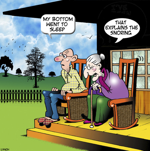 Cartoon: Snoring (medium) by toons tagged farts,snoring,old,age,pensioners,rocking,chairs,farts,snoring,old,age,pensioners,rocking,chairs