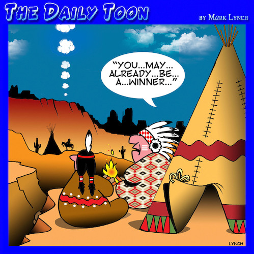 Cartoon: Telemarketing (medium) by toons tagged smoke,signals,telemarketers,lottery,lotto,advertising,you,may,already,be,winner,american,indians,telecommunications,smoke,signals,telemarketers,lottery,lotto,advertising,you,may,already,be,winner,american,indians,telecommunications