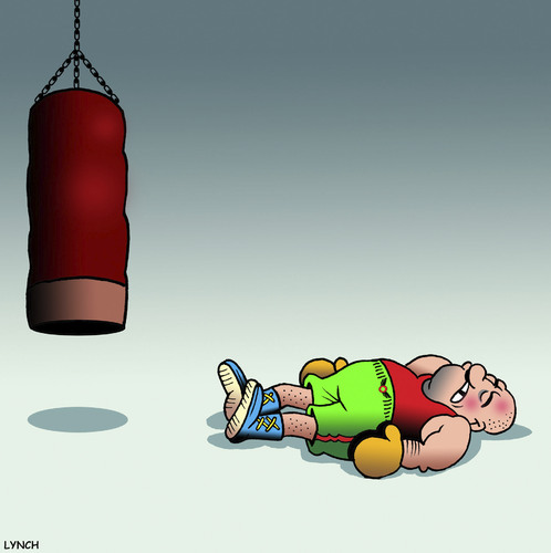 Cartoon: The Knockout (medium) by toons tagged bag,punching,boxing,gym,boxer,concussion,knocked,out,boxing,punching,bag,gym,boxer,concussion,knocked,out