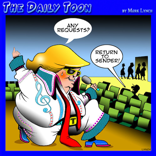 Cartoon: The Trump King (medium) by toons tagged donald,trump,elvis,the,king,impersonator,usa,president,donald,trump,elvis,the,king,impersonator,usa,president