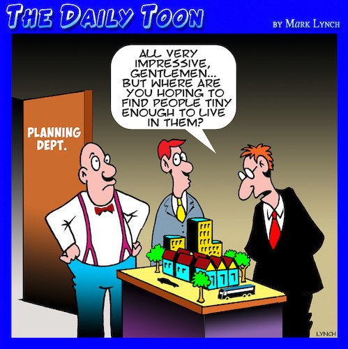 Cartoon: Town planner cartoon (medium) by toons tagged town,planners,architects,model,buildings,mock,up,city,town,planners,architects,model,buildings,mock,up,city