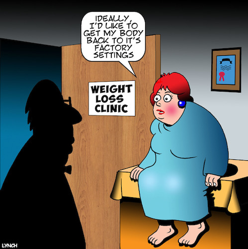 Cartoon: Weight loss (medium) by toons tagged factory,settings,weight,loss,clinic,obesity,diet,fat,overweight,epidemic,factory,settings,weight,loss,clinic,obesity,diet,fat,overweight,epidemic