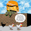 Cartoon: Agent orange (small) by toons tagged donald,trump,humpty,dumpty,eggs,chickens