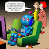 Cartoon: Artificial intelligence (small) by toons tagged ai,artificial,intelligence,robots,machines,robotic