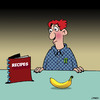 Cartoon: Banana recipe (small) by toons tagged banana,recipes,food,dinner,snacks,breakfast,potassium