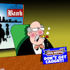 Cartoon: Banks (small) by toons tagged robbery,getting,caught,thieves,dishonest