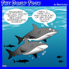 Cartoon: Bucket list (small) by toons tagged sharks,swimming,with,bucket,list,stuck,in,your,teeth
