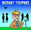 Cartoon: budget toupee (small) by toons tagged toupee,wig,birds,nest