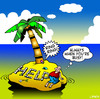 Cartoon: busy (small) by toons tagged desert,island,mobile,phone,busy