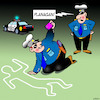 Cartoon: Chalk outline (small) by toons tagged selfie,deceased,police,murder,scene