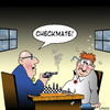 Cartoon: checkmate (small) by toons tagged chess,games,checkmate,guns,pistols