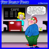 Cartoon: Coffee time (small) by toons tagged coffee,barista,cafe,vodka,prozac,mocha,shop,espresso