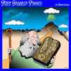 Cartoon: Copyright (small) by toons tagged ten,commandments,copyright,moses