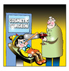 Cartoon: cosmetic surgery (small) by toons tagged cosmetic,surgery,chainsaw,pinnochio,doctor,hospital,botox,implants