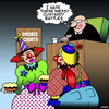 Cartoon: Custard pies (small) by toons tagged clowns,custard,pies,custody,battles