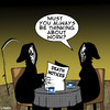Cartoon: death notice (small) by toons tagged grim,reaper,work,death