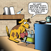 Cartoon: Dog-eat-Dog world (small) by toons tagged dogs,cooking,dog,eat,kitchen,recipes,rat,race