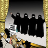 Cartoon: Drag Queen show (small) by toons tagged drag,queens,buqua,gay,burka,homosexuality,middle,east,performers