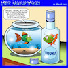 Cartoon: Drunk fish (small) by toons tagged vodka,fish,bowl,alcohol,animals
