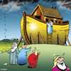 Cartoon: early warning system (small) by toons tagged noahs,ark,animals,religion,bible,rain,storms,god,floods,cyclone