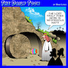 Cartoon: Easter Sunday (small) by toons tagged resurrection,crucifixion,easter,eggs