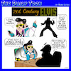 Cartoon: Elvis (small) by toons tagged elvis,love,me,tender,tinder,burning