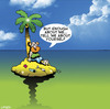 Cartoon: enough about me (small) by toons tagged desert,island,lonely