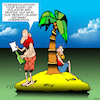Cartoon: Essay competition (small) by toons tagged essay,competition,desert,island,getaway,contest,winner,message,in,bottle