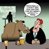 Cartoon: Everyone likes a drink (small) by toons tagged camels,drinking,alcoholism,beer,animals,ship,of,the,desert,alcoholic,aa,pubs,bars