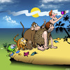 Cartoon: Evolution selfie (small) by toons tagged evolution,creationism,charles,darwin,selfie,apes,animals,in,the,beginning