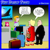 Cartoon: Excess baggage (small) by toons tagged airline,travel,excess,baggage,check,in