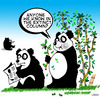 Cartoon: extinct (small) by toons tagged panda,conservation
