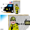Cartoon: fall out shelter (small) by toons tagged us,president,nuclear,arms,war,attack,forces,limo,race