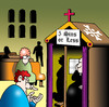 Cartoon: five sins or less (small) by toons tagged religion,confession,sinning,sins,deadly,priest,minister,church,catholics,commandments,pennance