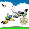 Cartoon: flying chessmen (small) by toons tagged chess board games parachute skydiving aeroplane cessna bright ideas flying aviation airlines master