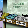 Cartoon: Forget-me-nots (small) by toons tagged flowere,elephants,forget,me,nots,daisies,sunflowers,florist,flower,shop