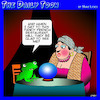 Cartoon: Frogs legs (small) by toons tagged fortune,teller,frogs,legs,french,restaurant,toads