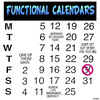 Cartoon: Functional calendars (small) by toons tagged calendars,months,days,fortune,teller,dates
