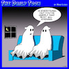 Cartoon: Ghosts (small) by toons tagged spirits,ghost,afterlife,boo,scary
