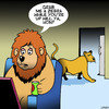 Cartoon: Grab me a zebra honey (small) by toons tagged lions,king,of,the,jungle,big,game,hunting,pride,men,zebra,hon,animals