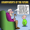 Cartoon: Grandparents (small) by toons tagged grandparents,hashtag,babies,tweeting,selfies,wifi,nostalga,old,people